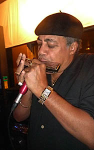 Billy Branch uses a BlowsMeAway Productions Ultimate microphone