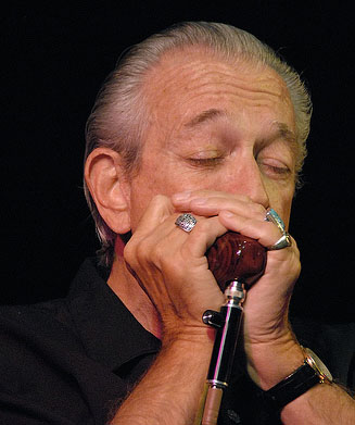 Charlie Musselwhite using his BlowsMeAway Wood Mic