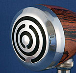 BlowsMeAway Productions custom wood bullet microphone - maze grill
