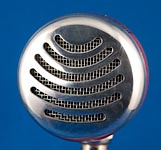 BlowsMeAway Productions custom wood bullet microphone - Smiles grill